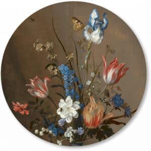 Muurcirkel_Cirkelbehang_bloemen-taupe.png